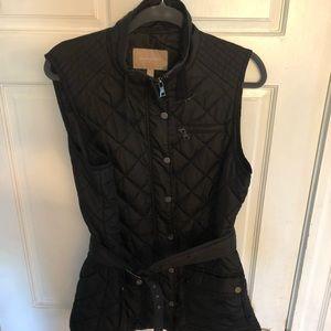 Banana republic black belted vest